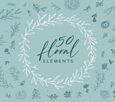 50-Handmade-Floral-Elements-Image