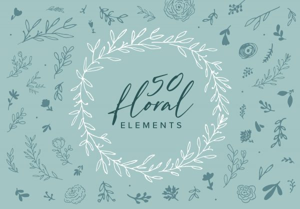 50-Handmade-Floral-Elements-Image